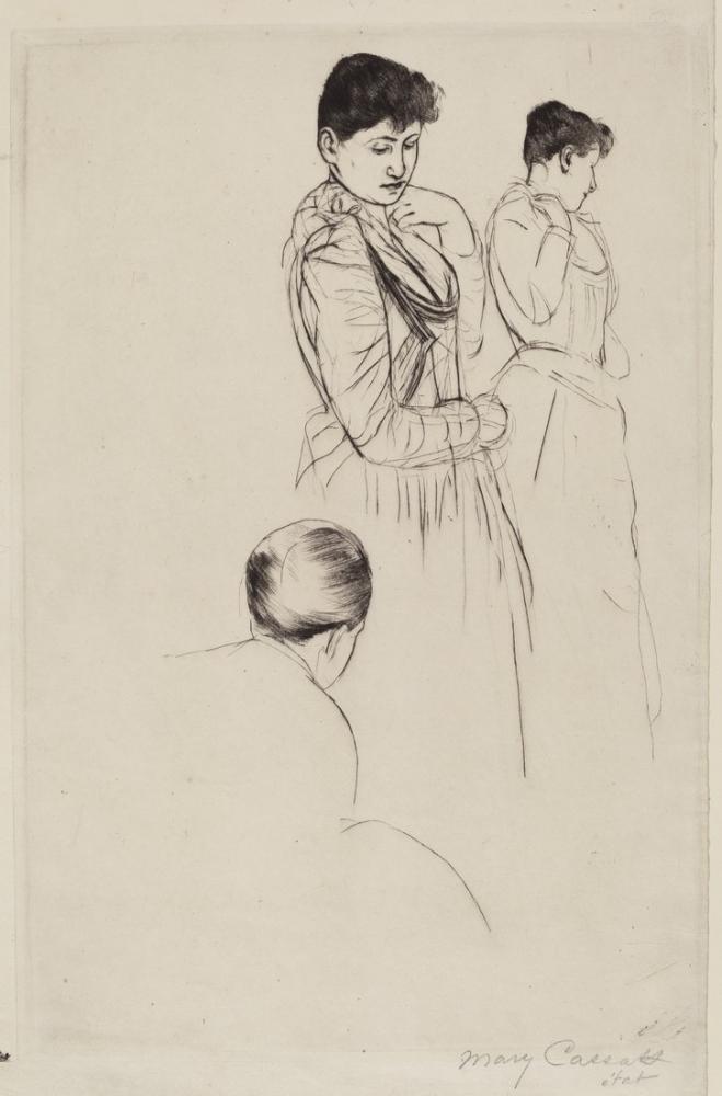 Mary Cassatt, The Fitting I, Canvas, Mary Cassatt, kanvas tablo, canvas print sales