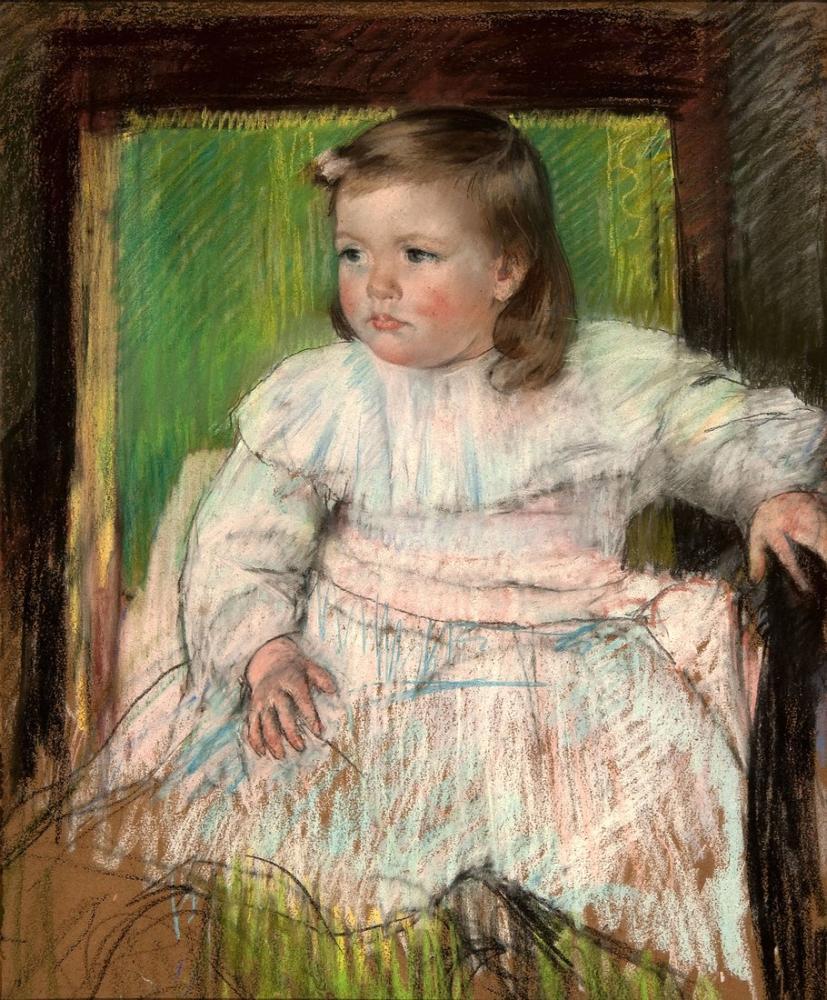 Mary Cassatt, Mary Pembe Kuşak, Kanvas Tablo, Mary Cassatt, kanvas tablo, canvas print sales