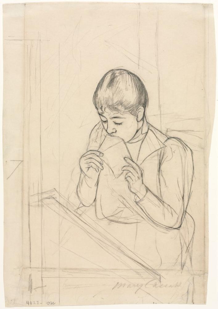 Mary Cassatt, The Letter Recto, Canvas, Mary Cassatt, kanvas tablo, canvas print sales