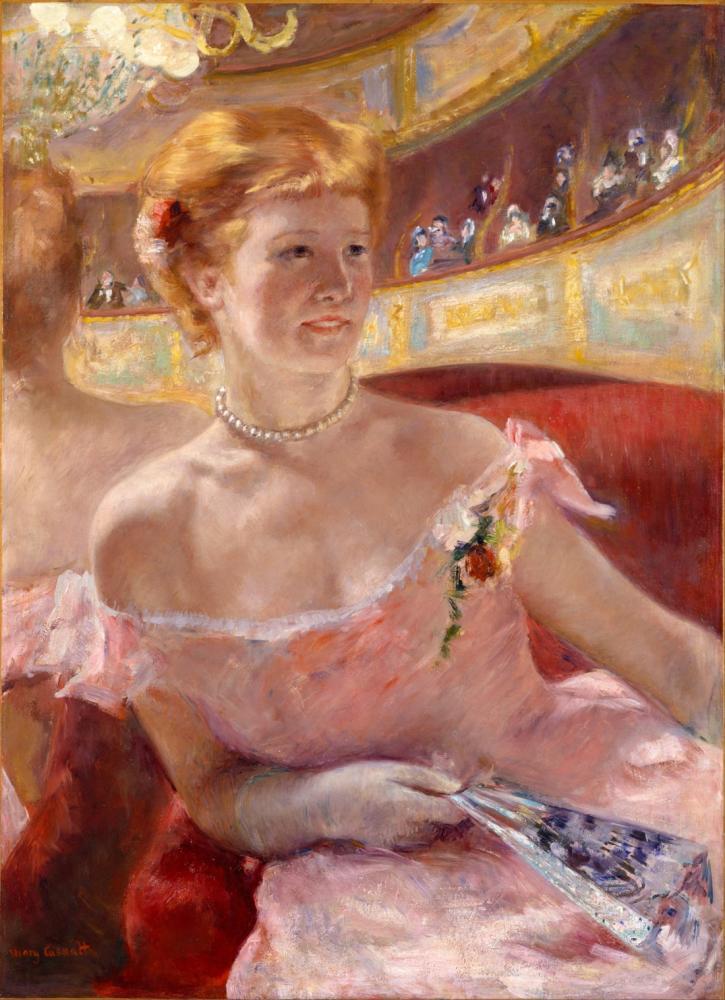 Mary Cassatt, Loca da İnci Kolyeli Bir Kadın, Kanvas Tablo, Mary Cassatt, kanvas tablo, canvas print sales