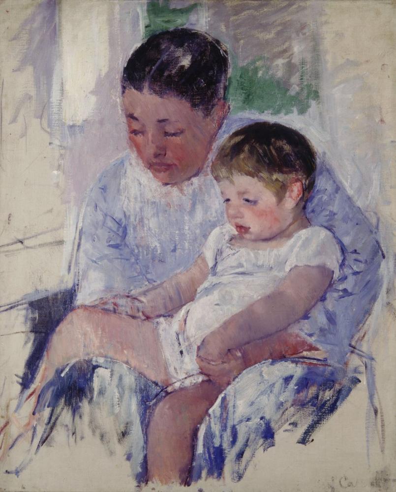 Mary Cassatt, Jenny and Her Sleepy Child, Canvas, Mary Cassatt, kanvas tablo, canvas print sales