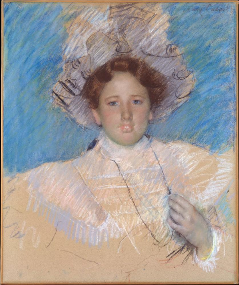 Mary Cassatt, Adaline Havemeyer in a White Hat, Canvas, Mary Cassatt, kanvas tablo, canvas print sales