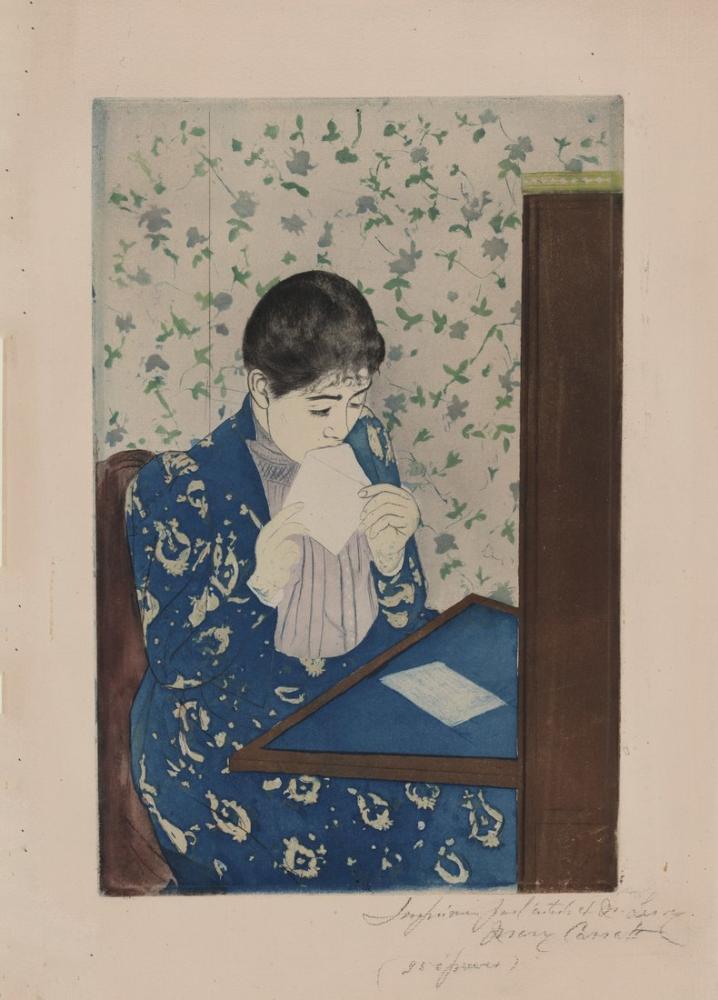 Mary Cassatt, The Letter, Canvas, Mary Cassatt, kanvas tablo, canvas print sales