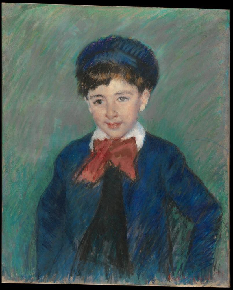 Mary Cassatt, Charles Dikran Kelekyan ın Sekiz Yaşında Portresi, Kanvas Tablo, Mary Cassatt, kanvas tablo, canvas print sales