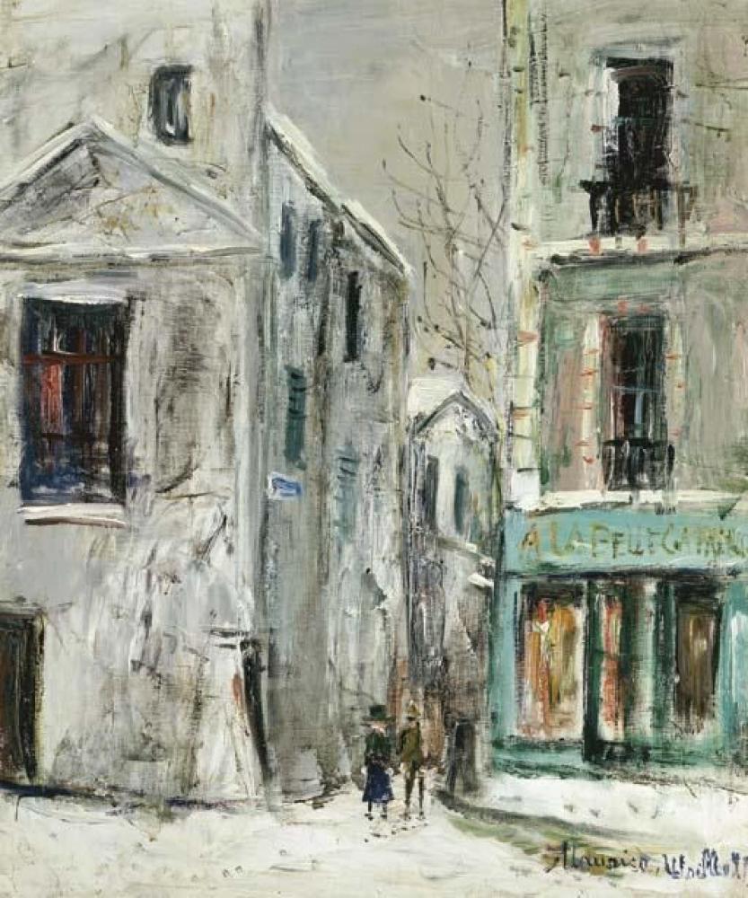 Maurice Utrillo La Belle Gabrielle, Kanvas Tablo, Maurice Utrillo, kanvas tablo, canvas print sales