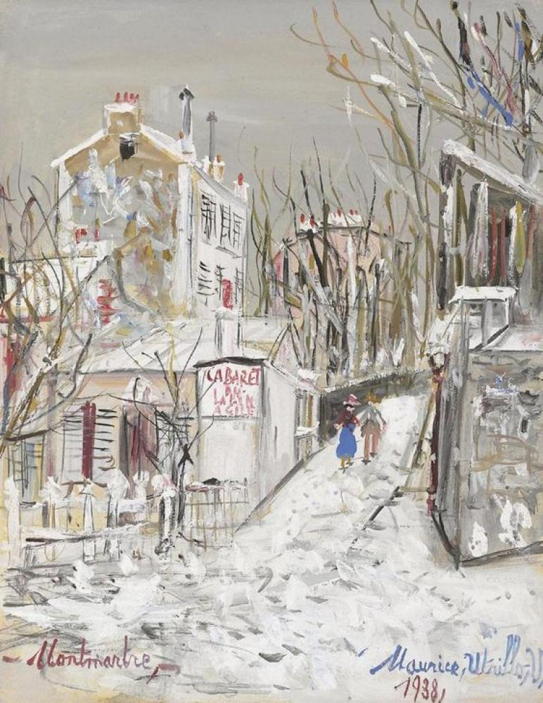 Maurice Utrillo Çevik Tavşan Kabaresi, Kanvas Tablo, Maurice Utrillo, kanvas tablo, canvas print sales