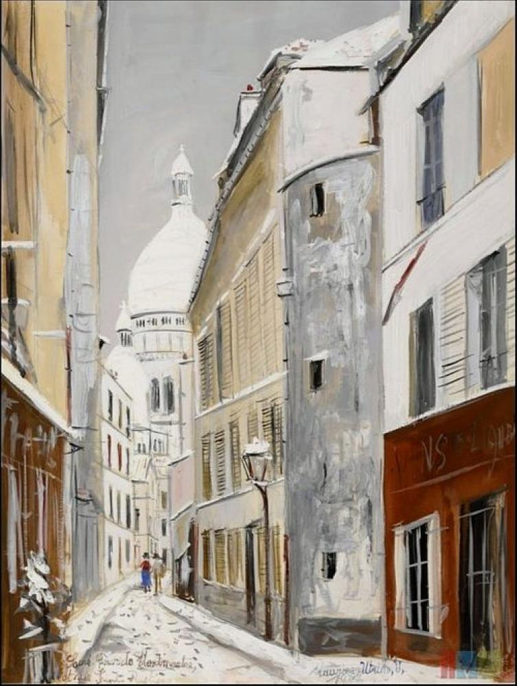 Maurice Utrillo Sacre-Coeur Bazilikası, Kanvas Tablo, Maurice Utrillo, kanvas tablo, canvas print sales