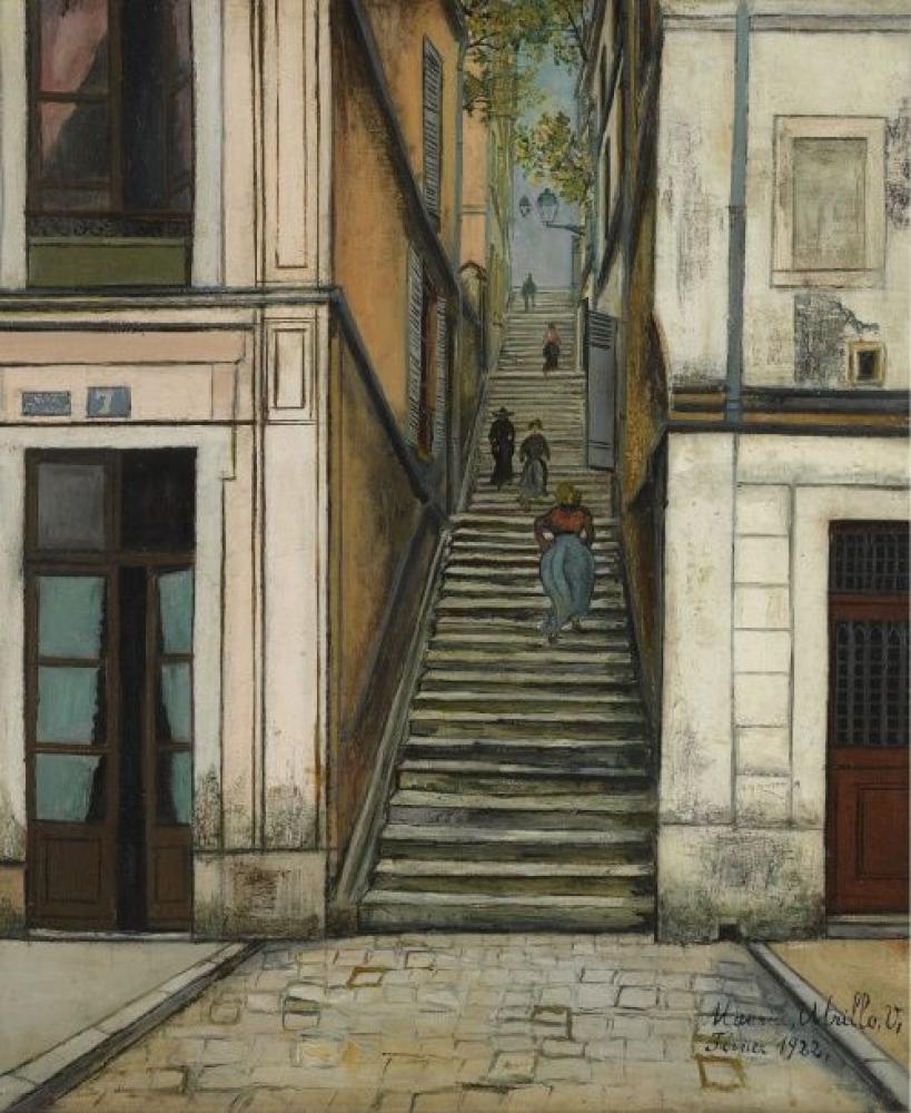 Maurice Utrillo Geçit Cottin, Kanvas Tablo, Maurice Utrillo, kanvas tablo, canvas print sales
