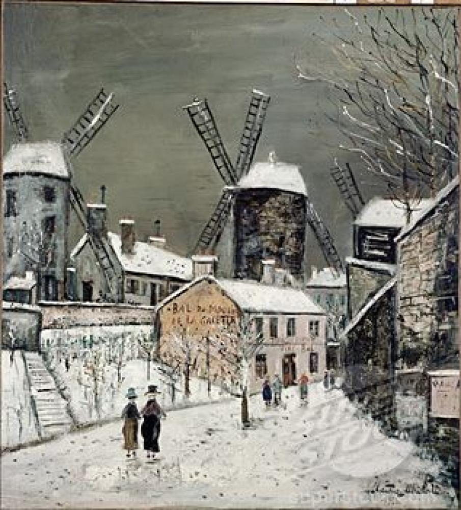Maurice Utrillo Les Vieux Moulins de Montmartre, Canvas, Maurice Utrillo, kanvas tablo, canvas print sales