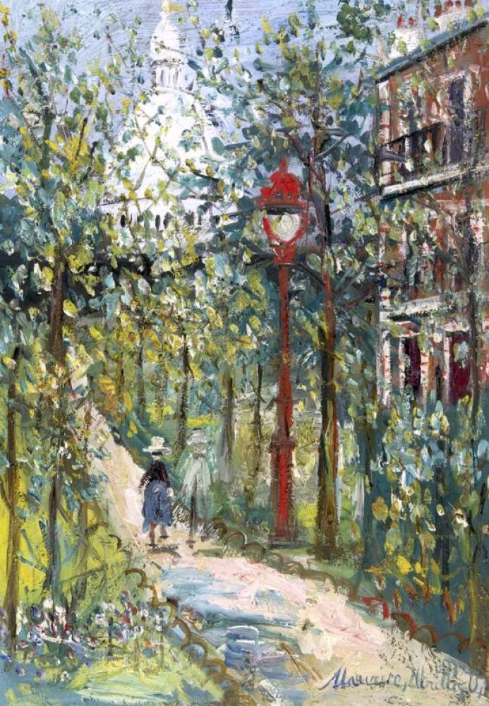 Maurice Utrillo Square Saint-Pierre et Sacré-Coeur, Kanvas Tablo, Maurice Utrillo, kanvas tablo, canvas print sales