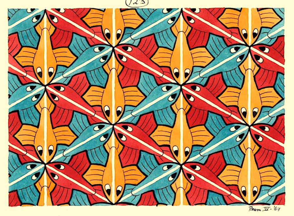Maurits Cornelis Escher Tessellations, Canvas, Maurits Cornelis Escher, kanvas tablo, canvas print sales