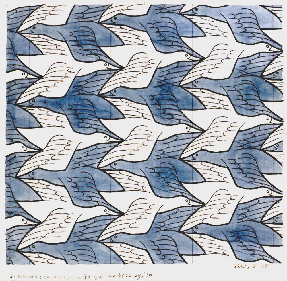Maurits Cornelis Escher İki Kuş, Kanvas Tablo, Maurits Cornelis Escher, kanvas tablo, canvas print sales