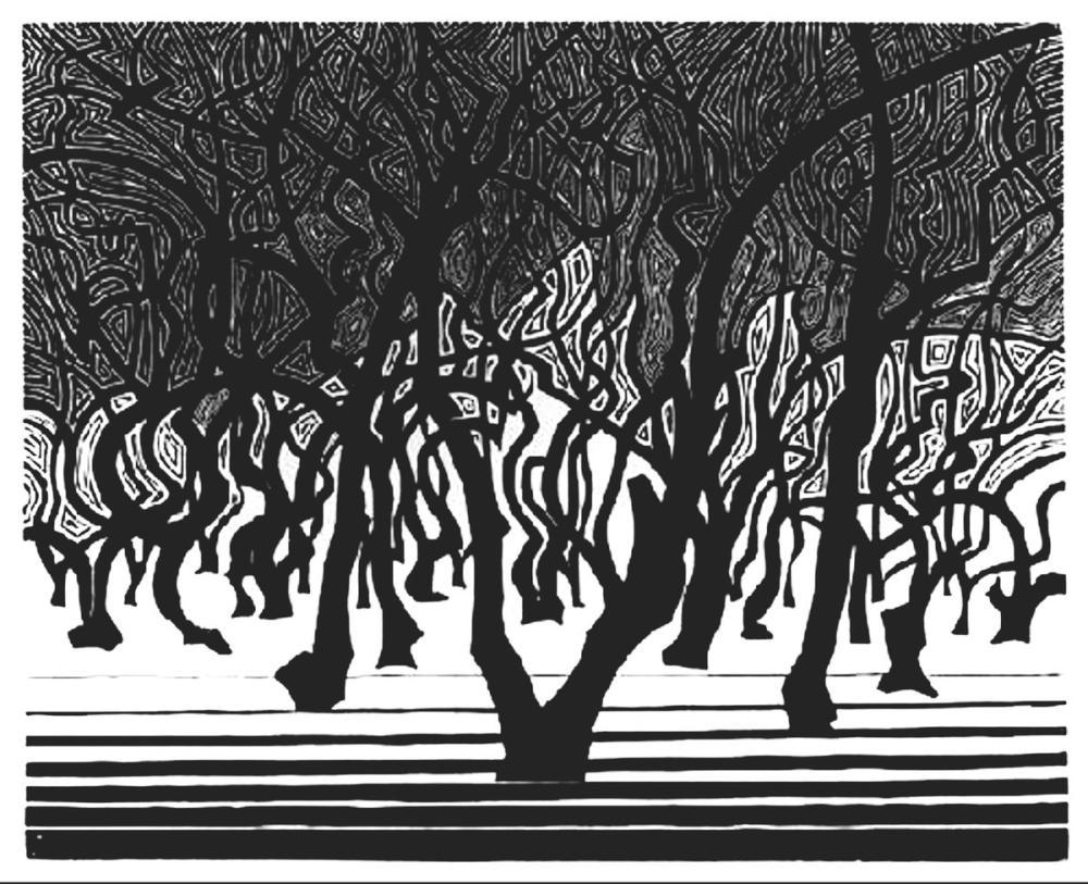 Maurits Cornelis Escher Menton Yakınındaki Ağaçlık, Kanvas Tablo, Maurits Cornelis Escher, kanvas tablo, canvas print sales