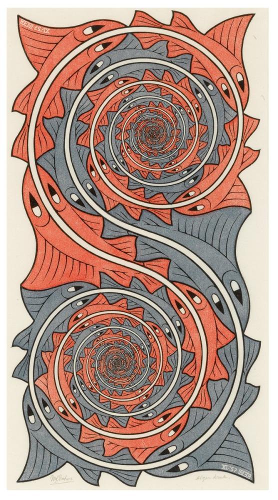 Maurits Cornelis Escher Whirlpools, Canvas, Maurits Cornelis Escher, kanvas tablo, canvas print sales