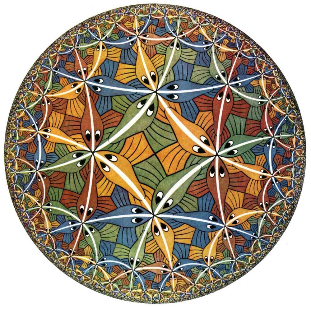 Maurits Cornelis Escher Çember Sınırı III, Kanvas Tablo, Maurits Cornelis Escher, kanvas tablo, canvas print sales