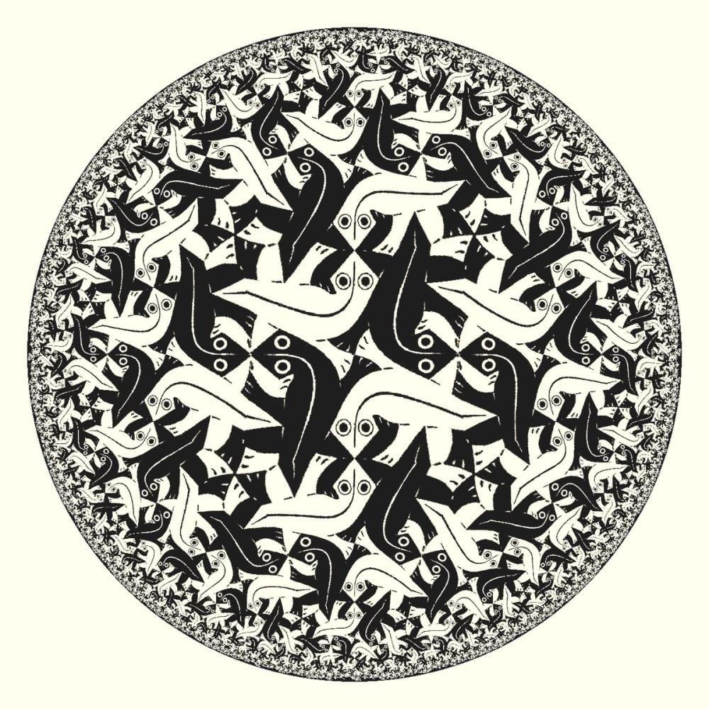 Maurits Cornelis Escher Circle Limit II, Canvas, Maurits Cornelis Escher, kanvas tablo, canvas print sales