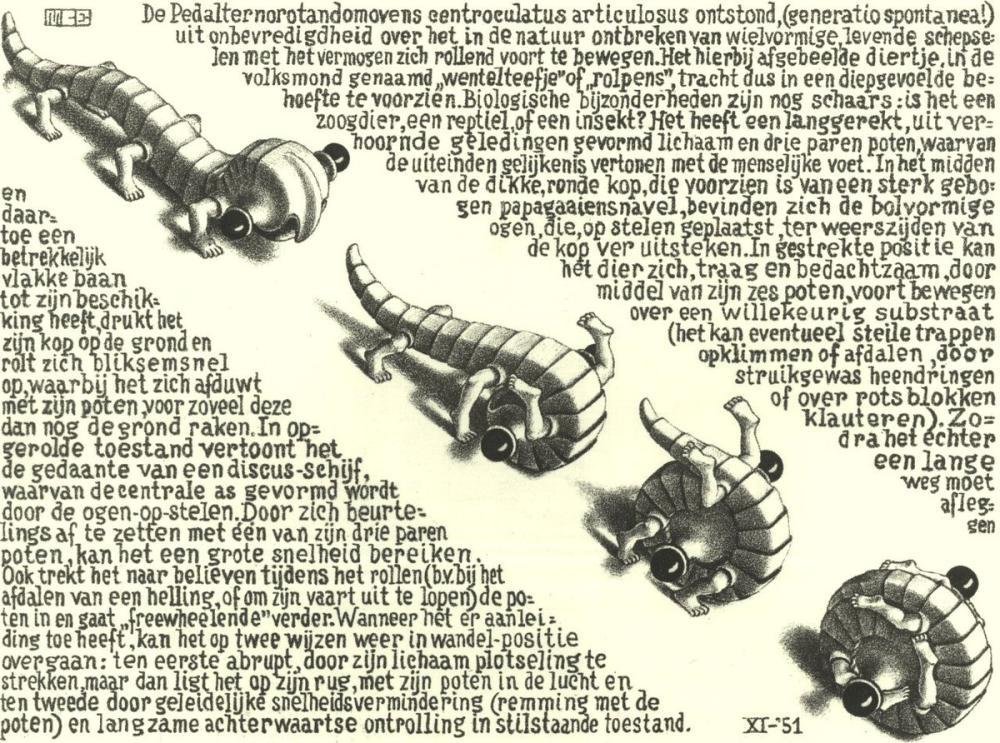 Maurits Cornelis Escher Curl Up, Figure, Maurits Cornelis Escher, kanvas tablo, canvas print sales