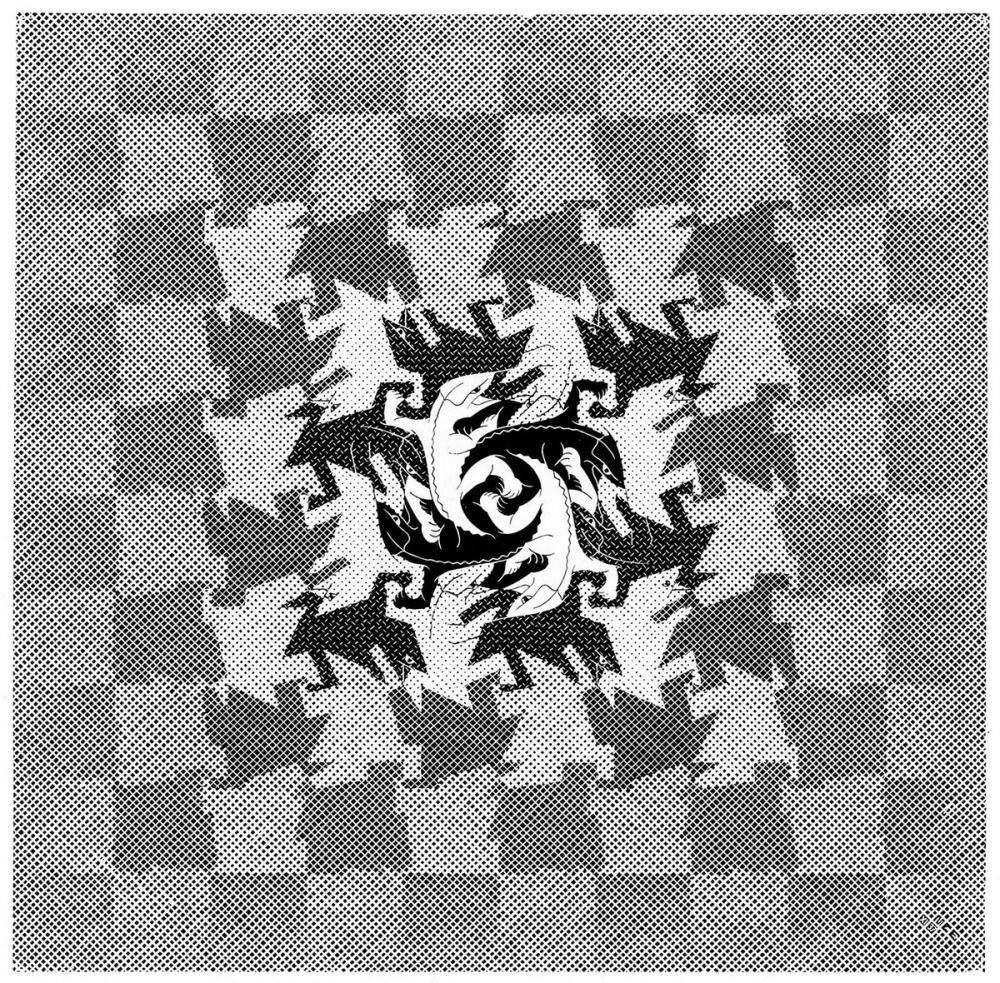 Maurits Cornelis Escher Development I, Canvas, Maurits Cornelis Escher, kanvas tablo, canvas print sales