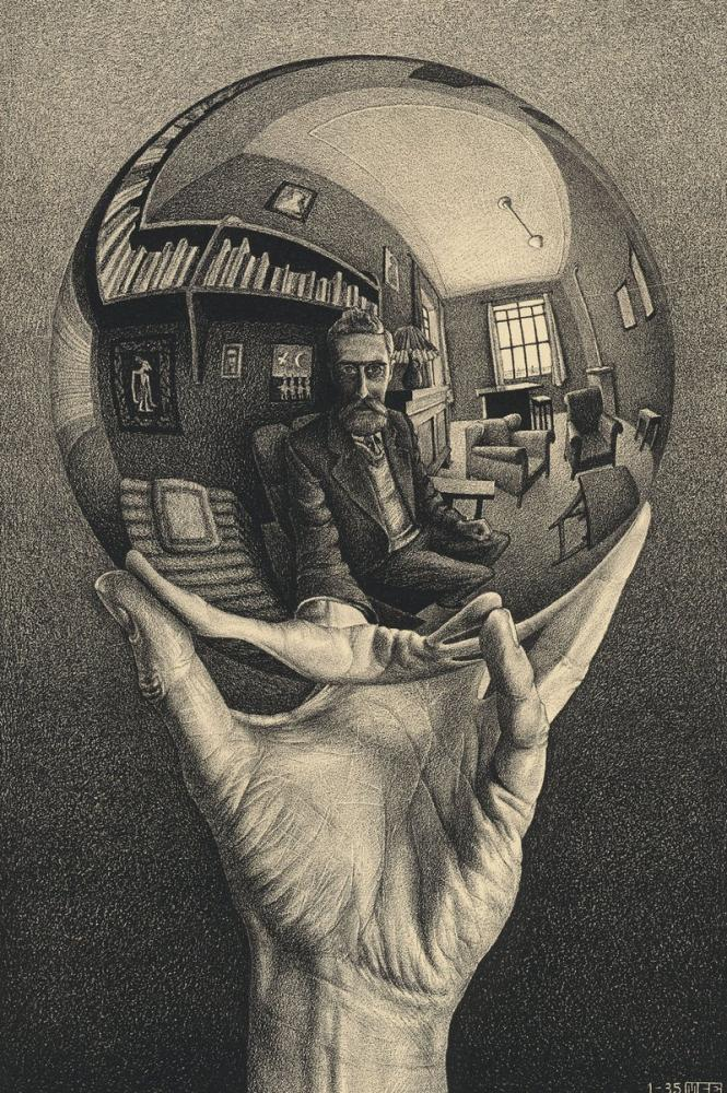 Maurits Cornelis Escher Hand With A Reflecting Sphere, Canvas, Maurits Cornelis Escher, kanvas tablo, canvas print sales