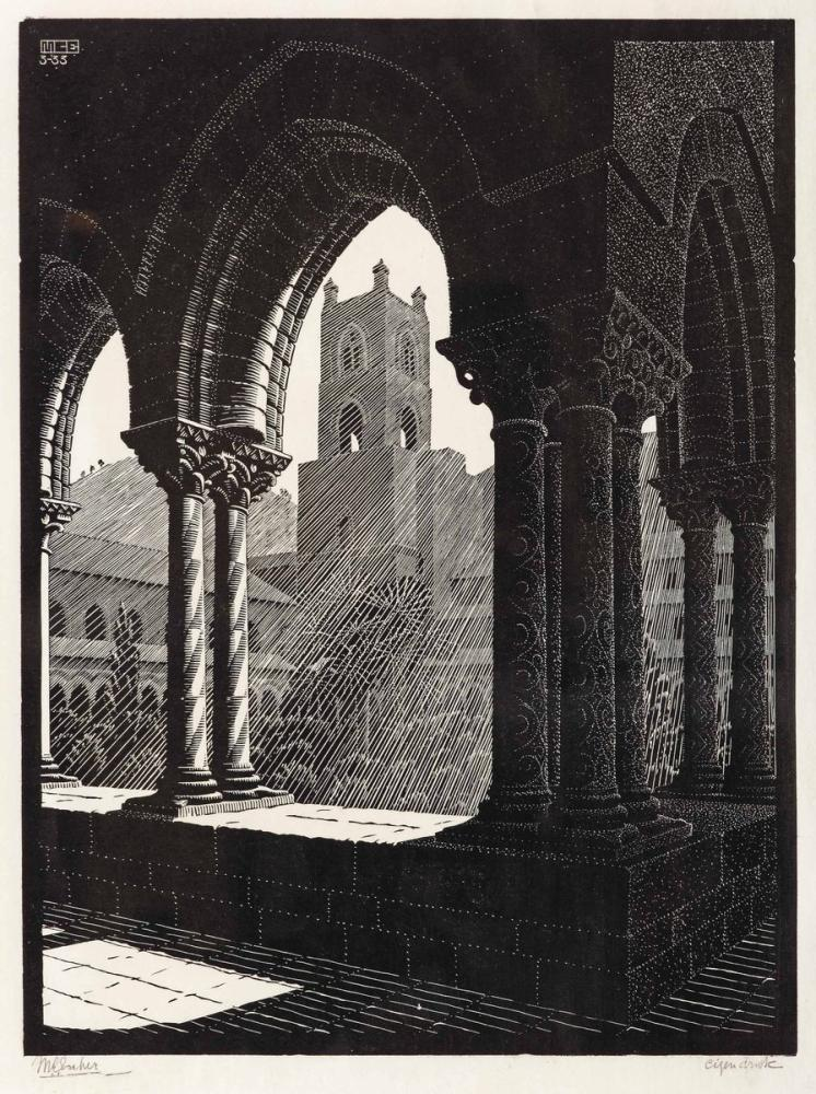 Maurits Cornelis Escher Inside St Peters, Canvas, Maurits Cornelis Escher, kanvas tablo, canvas print sales
