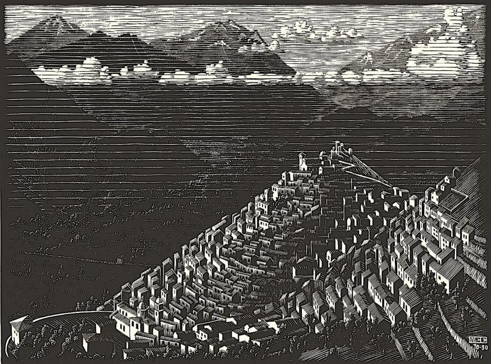 Maurits Cornelis Escher Morano, Canvas, Maurits Cornelis Escher, kanvas tablo, canvas print sales