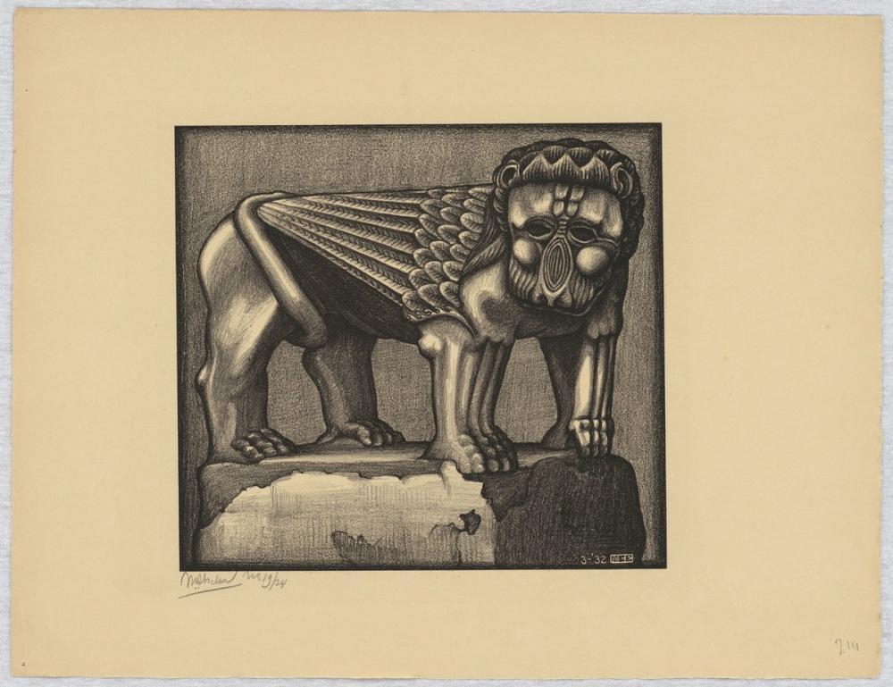 Maurits Cornelis Escher Ravello Çeşmesi Aslanı, Figür, Maurits Cornelis Escher, kanvas tablo, canvas print sales
