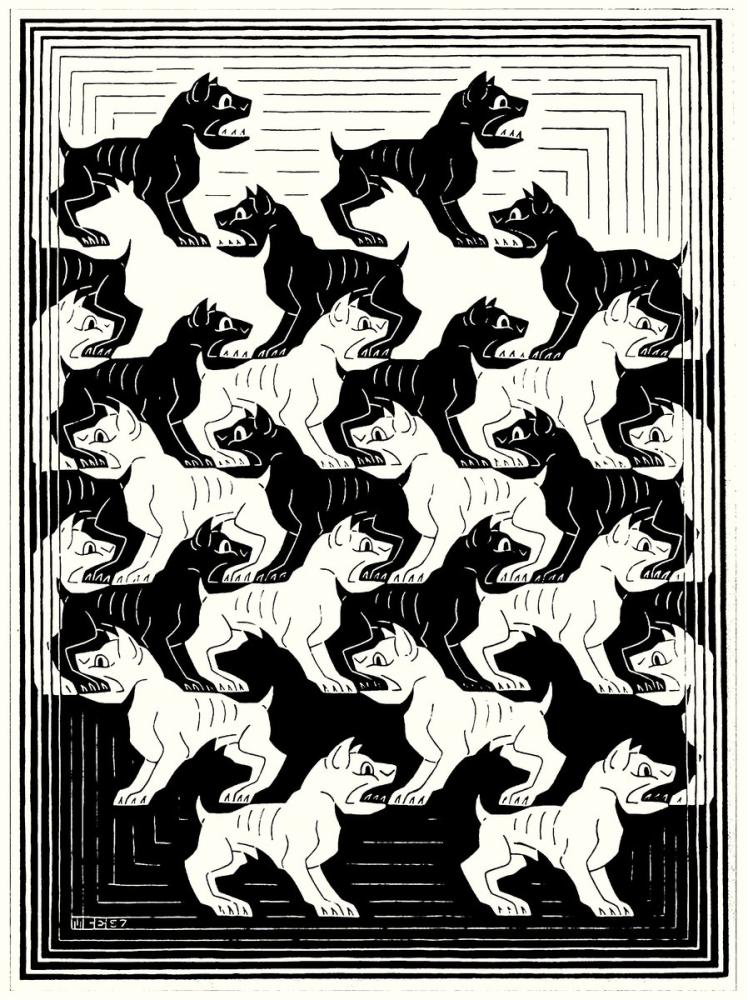 Maurits Cornelis Escher Regular Division Of The Plane, Canvas, Maurits Cornelis Escher, kanvas tablo, canvas print sales