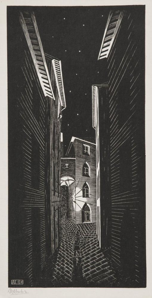 Maurits Cornelis Escher Seranade In Siena, Canvas, Maurits Cornelis Escher, kanvas tablo, canvas print sales