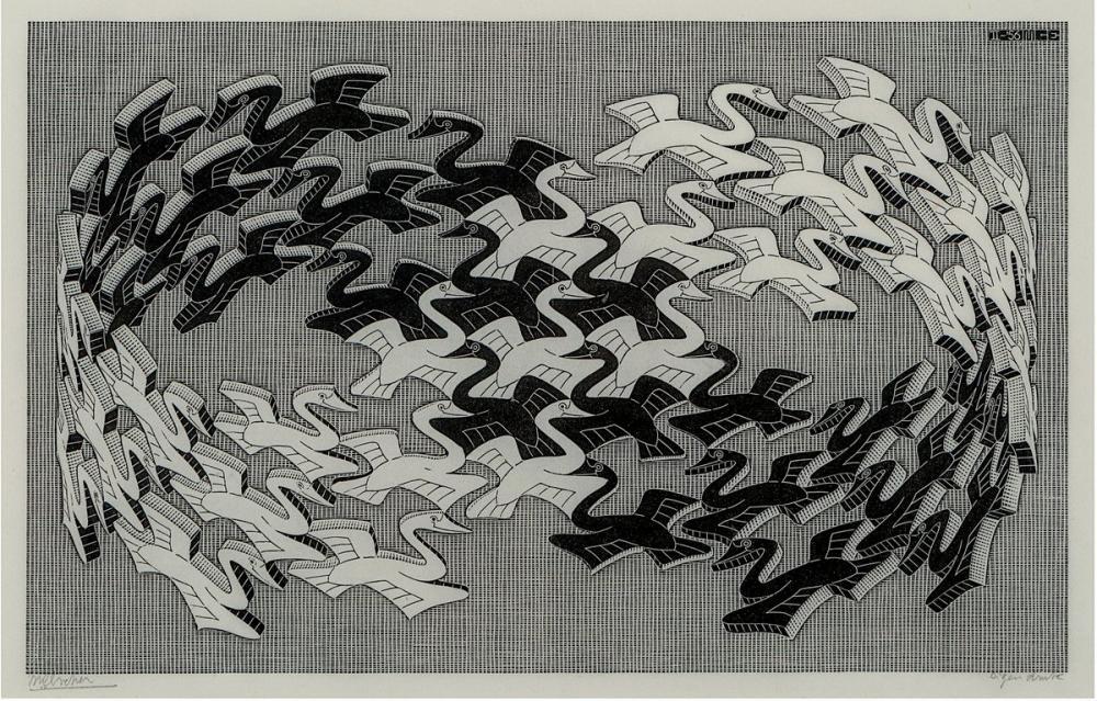 Maurits Cornelis Escher Seven Principles Of Design Movement, Canvas, Maurits Cornelis Escher, kanvas tablo, canvas print sales