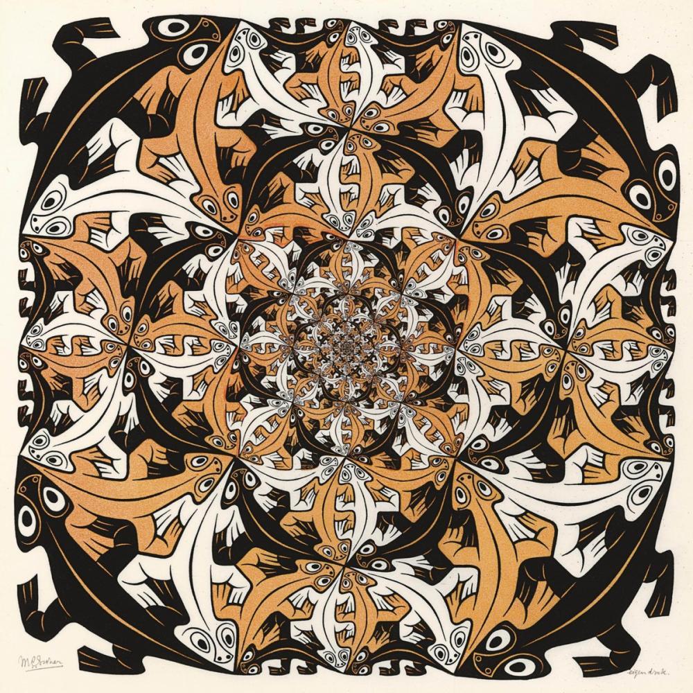 Maurits Cornelis Escher Daha Küçük Ve Daha Küçük, Kanvas Tablo, Maurits Cornelis Escher, kanvas tablo, canvas print sales