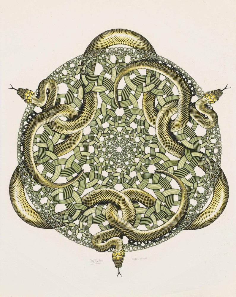 Maurits Cornelis Escher Yılanlar, Kanvas Tablo, Maurits Cornelis Escher, kanvas tablo, canvas print sales