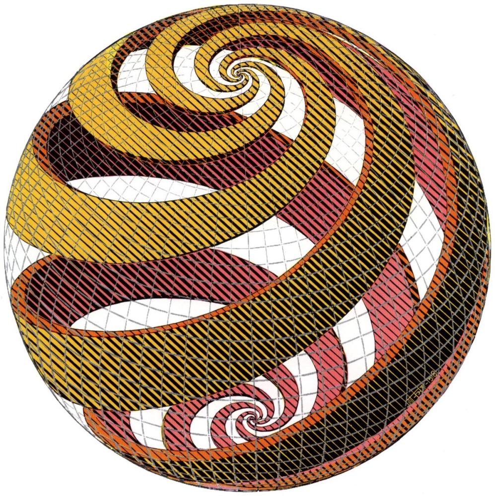Maurits Cornelis Escher Sphere Spirals, Canvas, Maurits Cornelis Escher, kanvas tablo, canvas print sales
