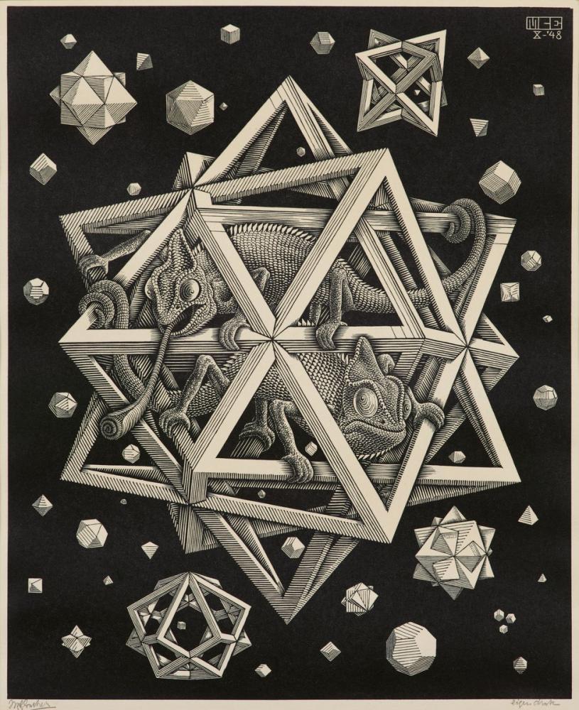 Maurits Cornelis Escher Yıldızlar, Figür, Maurits Cornelis Escher, kanvas tablo, canvas print sales