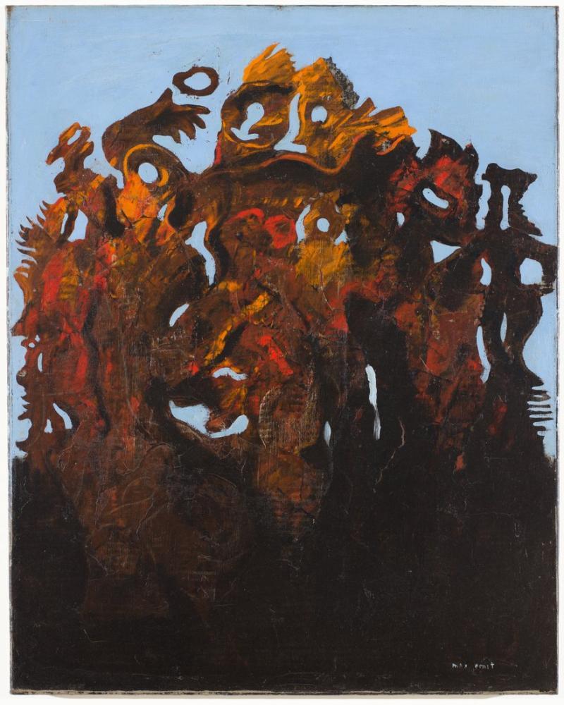 Max Ernst One Big Family, Figure, Max Ernst, kanvas tablo, canvas print sales