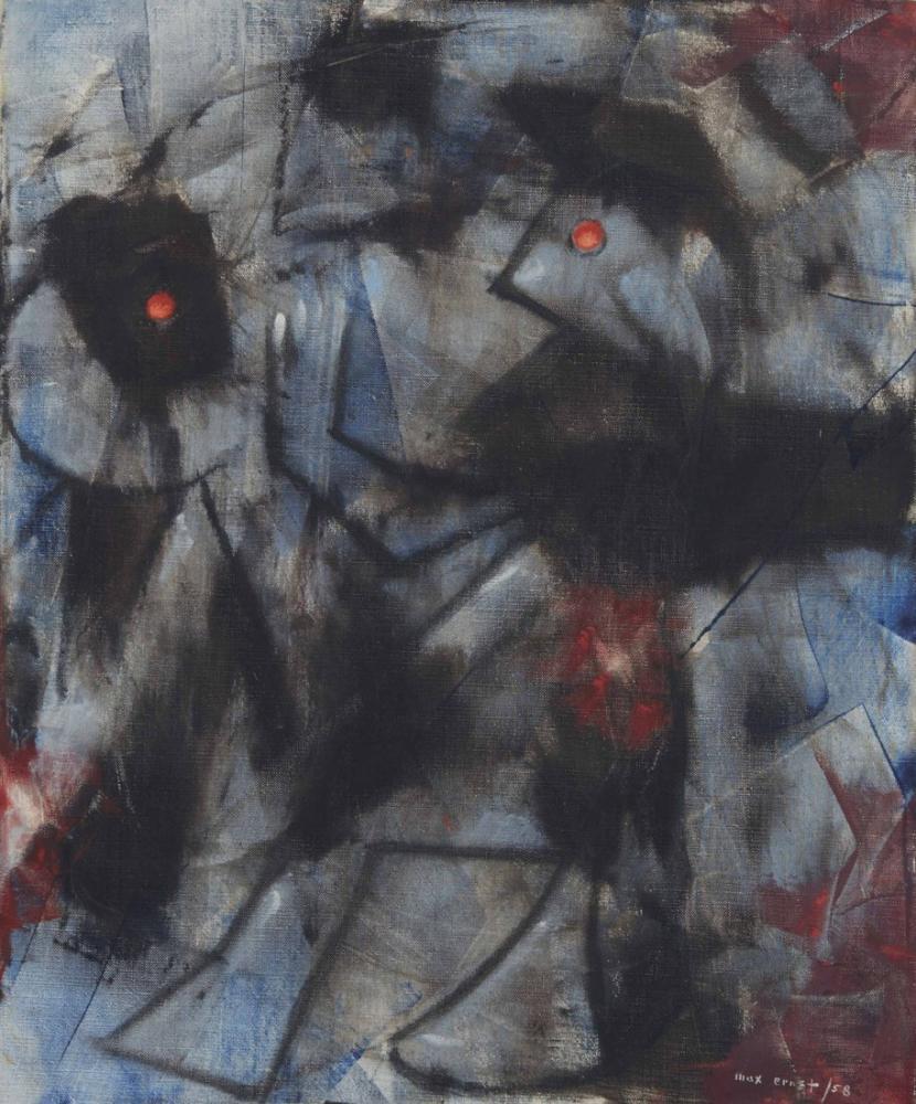 Max Ernst İki Kuş İle Kompozisyon, Kanvas Tablo, Max Ernst, kanvas tablo, canvas print sales