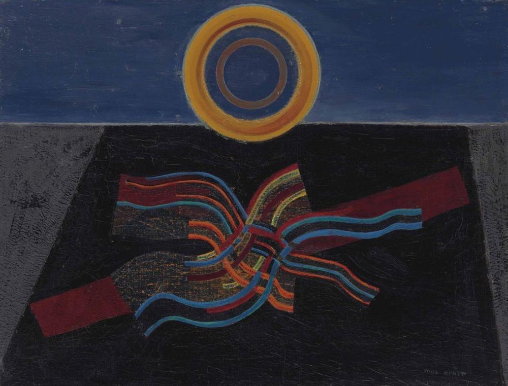 Max Ernst Kara Güneş Altın Depremi, Figür, Max Ernst, kanvas tablo, canvas print sales