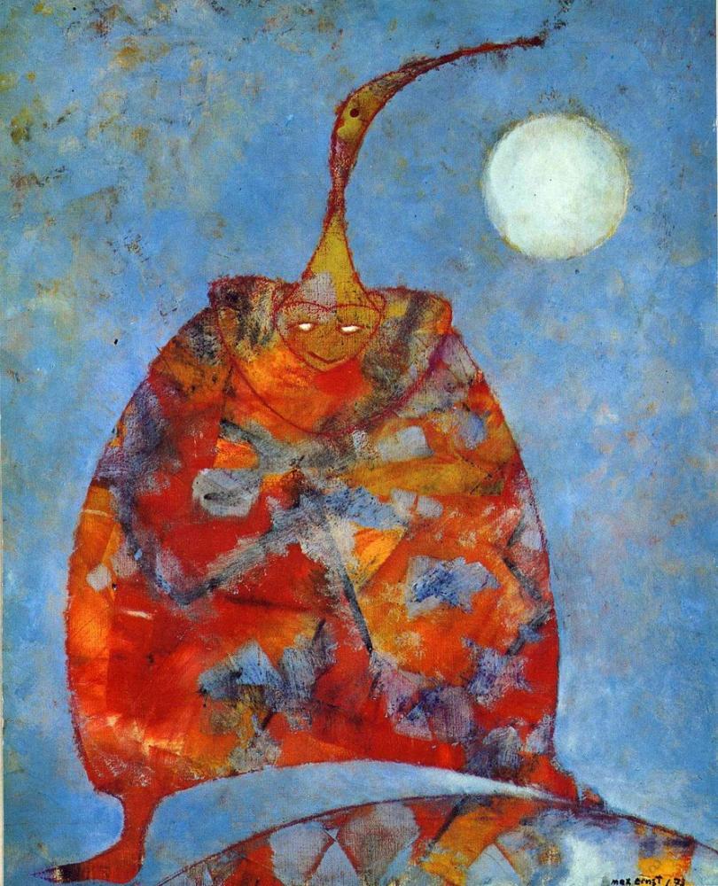 Max Ernst Arkadaşım Pierrot, Figür, Max Ernst, kanvas tablo, canvas print sales