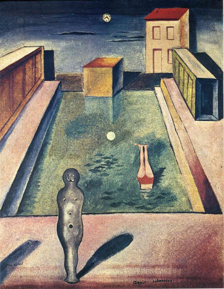 Max Ernst Sular Boğuldu, Figür, Max Ernst, kanvas tablo, canvas print sales