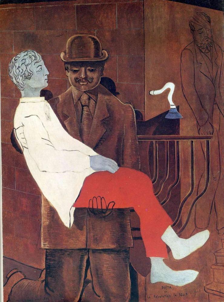 Max Ernst Pieta Devrimi Gecesi 1923, Figür, Max Ernst, kanvas tablo, canvas print sales