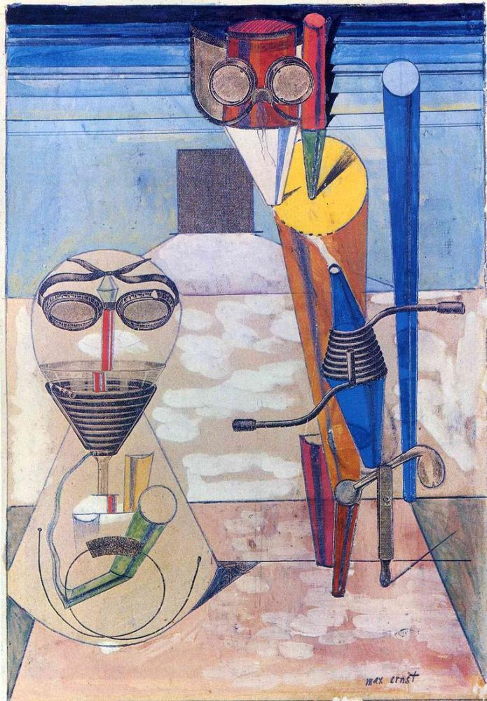Max Ernst Ambiguous Figures I, Figure, Max Ernst, kanvas tablo, canvas print sales