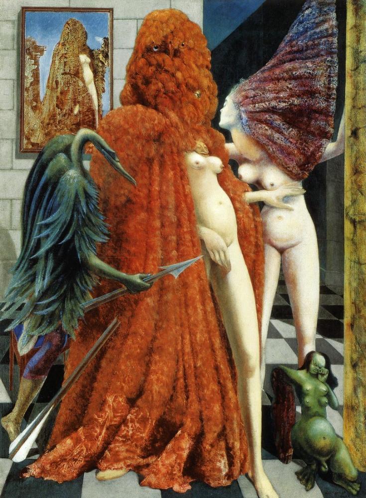 Max Ernst Gelinin Soyulması, Figür, Max Ernst, kanvas tablo, canvas print sales