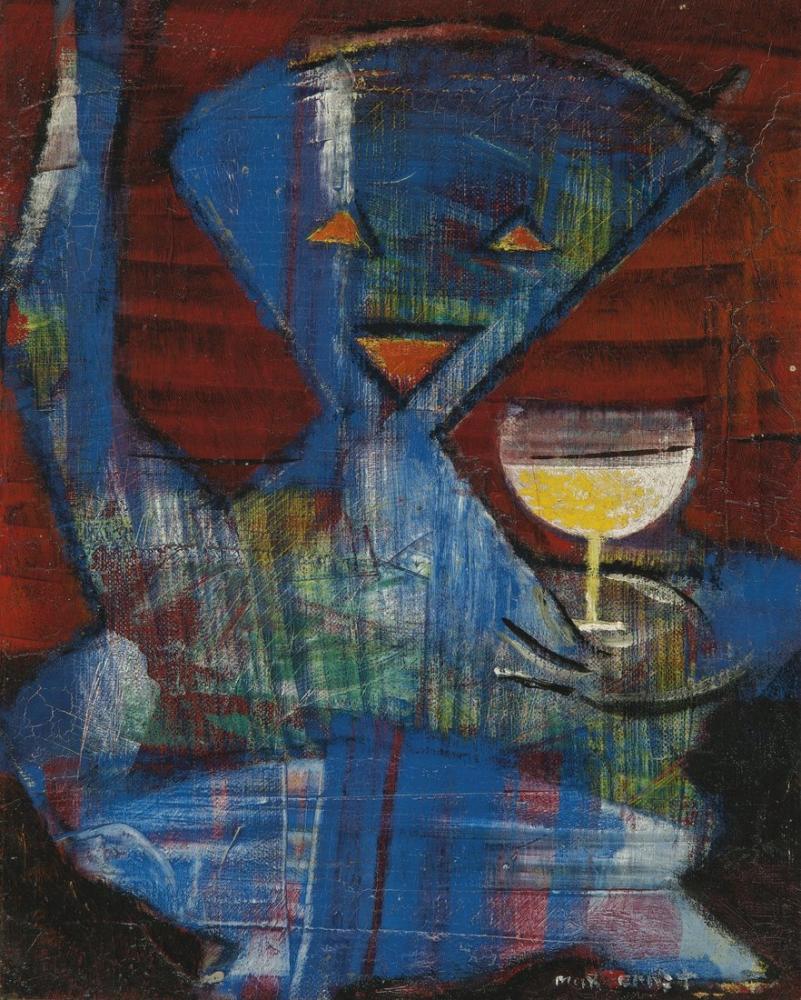 Max Ernst Melek Yüzlü Bir Sanatçının Portresi, Figür, Max Ernst, kanvas tablo, canvas print sales