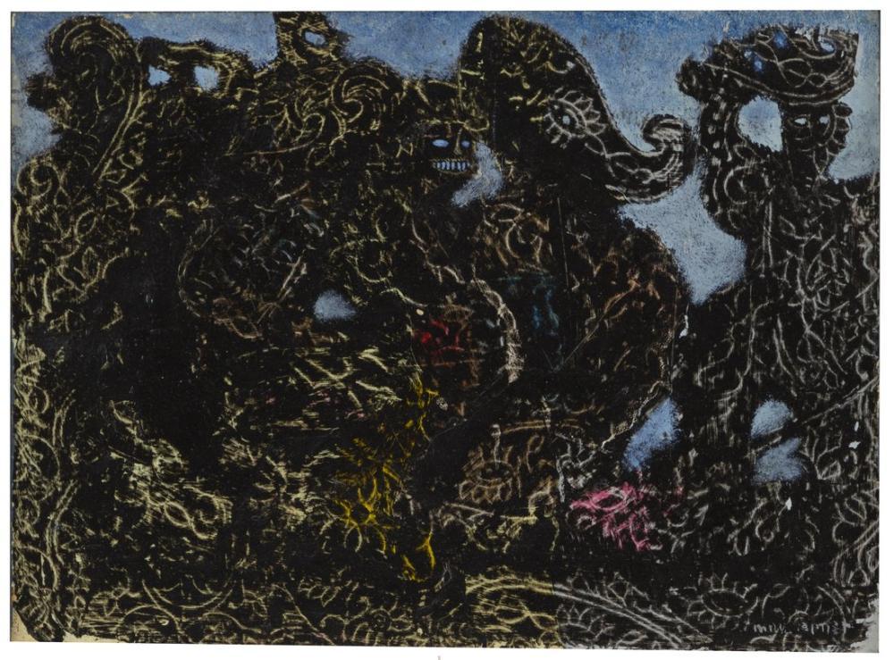 Max Ernst La Horde, Kanvas Tablo, Max Ernst, kanvas tablo, canvas print sales