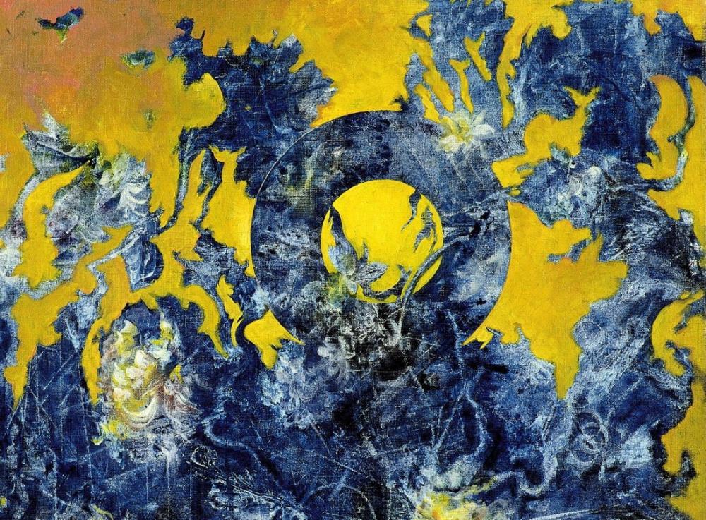 Max Ernst Mavi Ve Sarı Kompozisyon, Kanvas Tablo, Max Ernst, kanvas tablo, canvas print sales