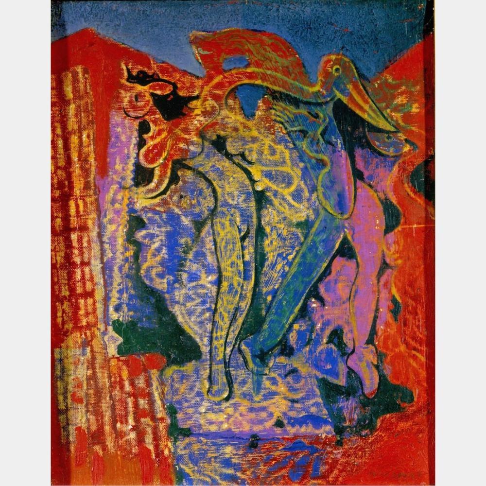 Max Ernst Leda Et Le Cygne, Figure, Max Ernst, kanvas tablo, canvas print sales