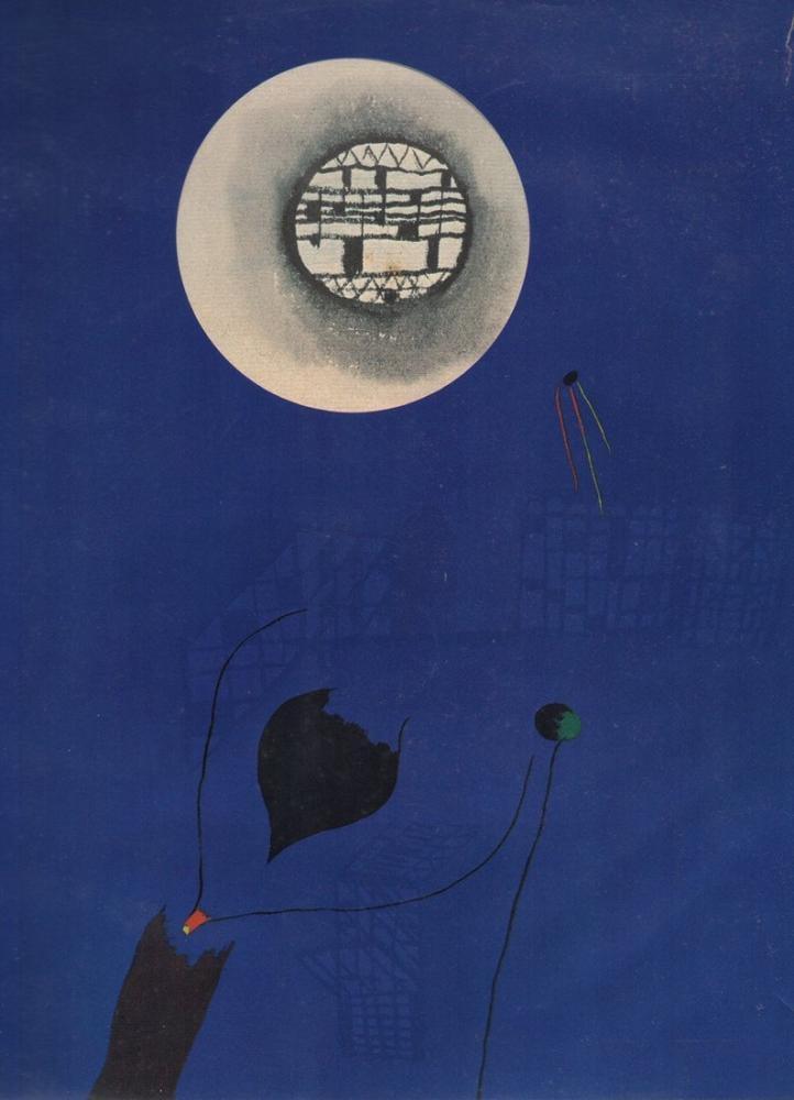 Max Ernst Mavi Ve Ay, Kanvas Tablo, Max Ernst, kanvas tablo, canvas print sales