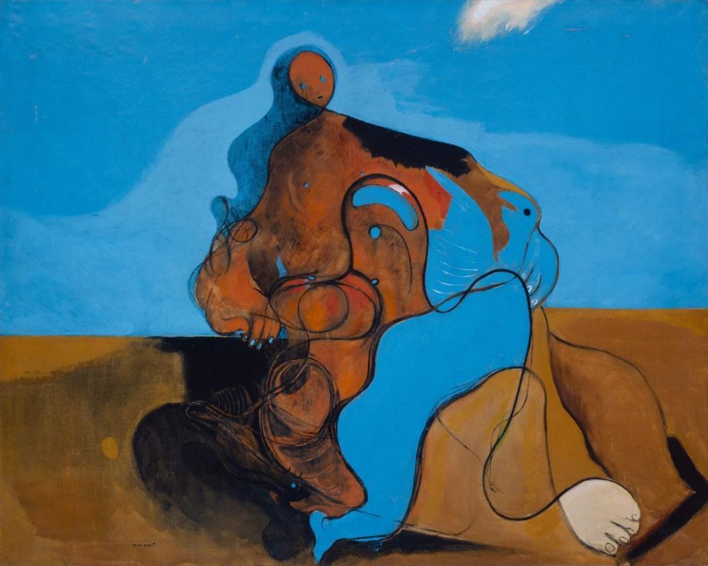 Max Ernst Öpücük, Figür, Max Ernst, kanvas tablo, canvas print sales