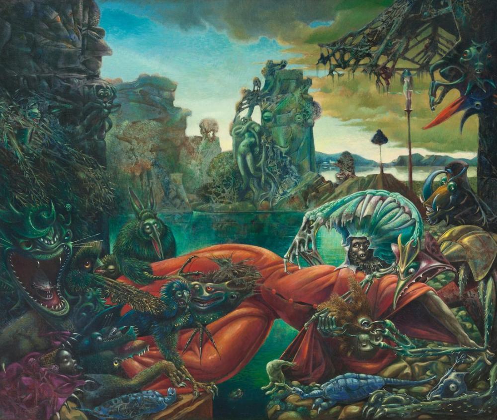 Max Ernst St Anthony Günaha, Figür, Max Ernst, kanvas tablo, canvas print sales