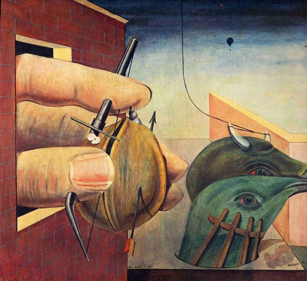 Max Ernst Oedipus Rex, Figür, Max Ernst, kanvas tablo, canvas print sales