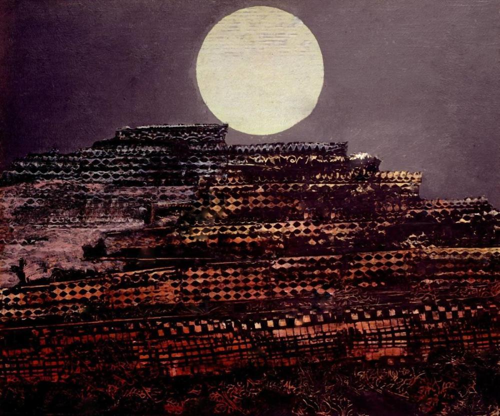 Max Ernst Taşlaşmış Şehir, Kanvas Tablo, Max Ernst, kanvas tablo, canvas print sales